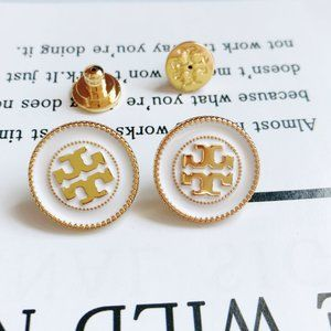 Tory Burch 18k Gold-plated Disc Stud Earrings